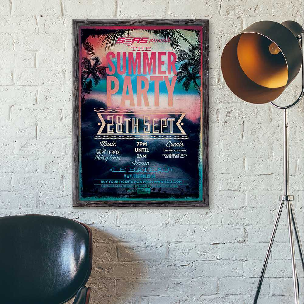 Azura_Design_Portfolio_summer_party_print_design | Azura Design - Digital Creative Studio London